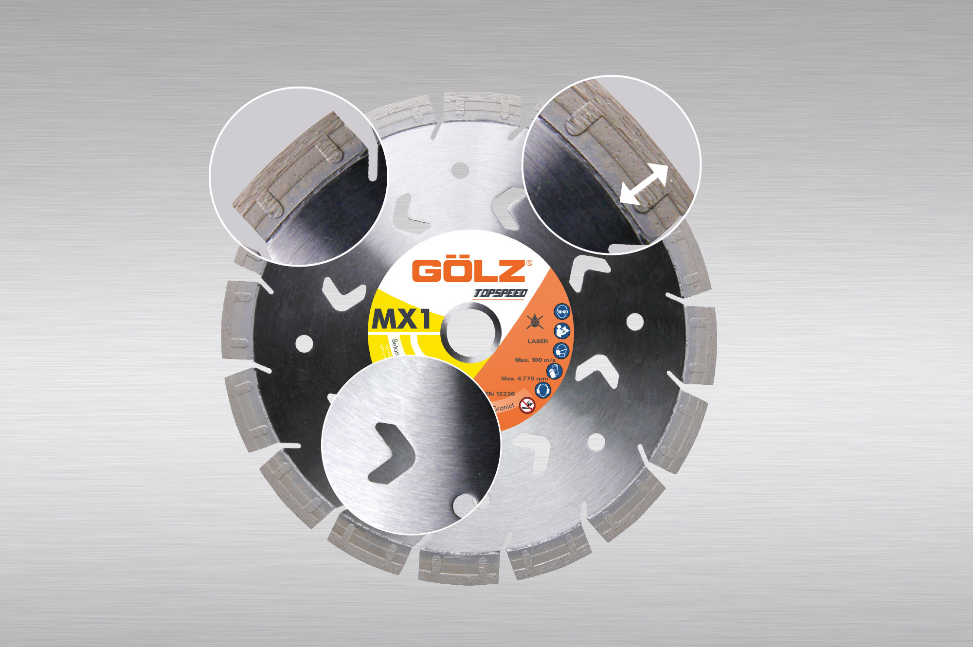 TOPSPEED Diamond blade with Stepsegment